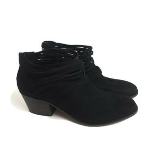 Fergalicious Black Strappy  Ankle Boots